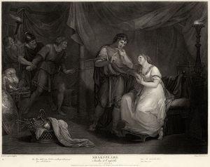 Titre : Troïlus et Cressida, Acte V, Scène 2 Crédit : Gravure de Luigi Schiavonetti, d'après un tableau d'Angelica Kauffmann, http://commons.wikimedia.org/wiki/File:A_Scene_from_Troilus_and_Cressida_-_Angelica_Kauffmann.jpg