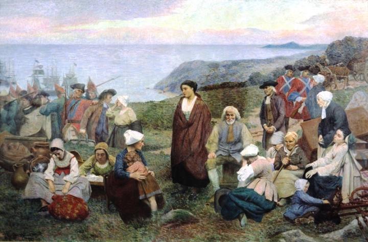 La Déportation des Acadiens Henri Beau (1863-1949) (ameriquefrancaise.org), https://commons.wikimedia.org/wiki/File:La_Deportation_des_Acadiens_par_Henri_Beau.jpg