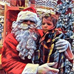 « T'es pas le vrai Père Noël, toi! »