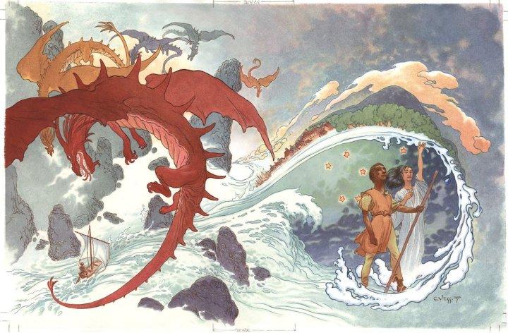 Illustration de Charles Vess pour la version illustrée du Cycle de Terrmer d'Ursula K. Le Guin